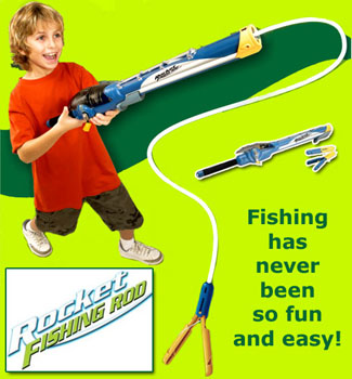 Rocket fishing rod as seen on tv get a blast out of fishing for Betty nick s fishing report